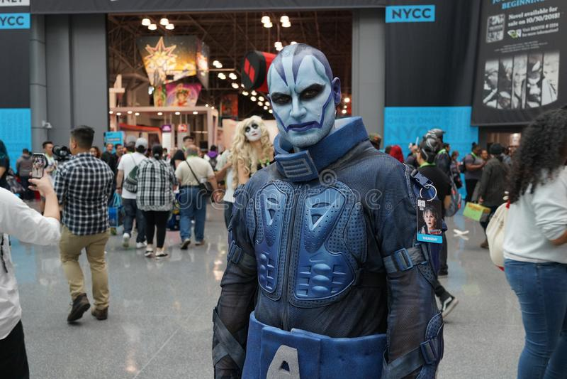 New York escroquerie 2018 jeudi 31 comique images stock