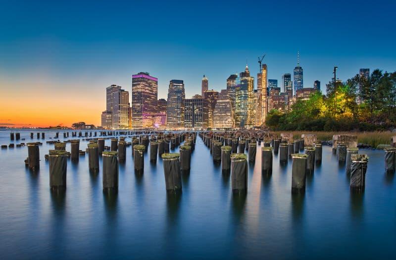New York & esposizione lunga fotografia stock