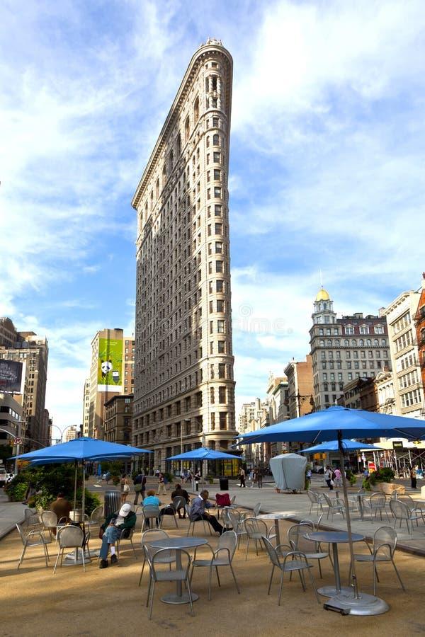 Bâtiment célèbre de Flatiron à New York City image stock