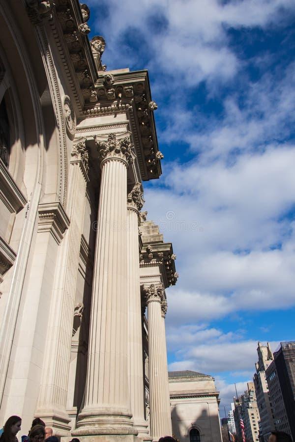 New York, Etats-Unis - 3 janvier 2019 : Le Musée d'Art métropolitain à New York City, le musée aux Etats-Unis entrée photo libre de droits