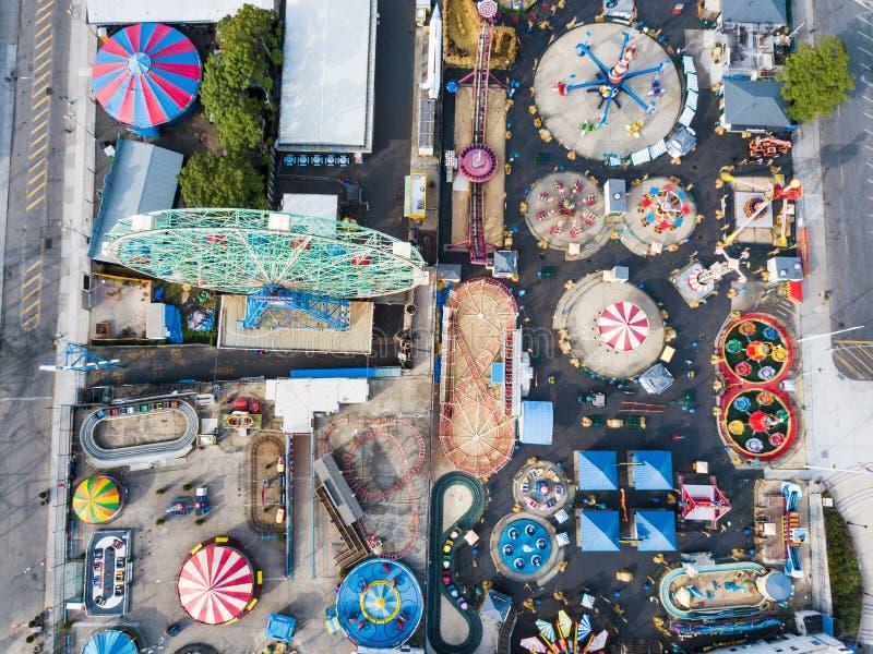 NEW YORK, ETATS-UNIS - 26 SEPTEMBRE 2017 : Parc d'attractions d'île de lapin image libre de droits