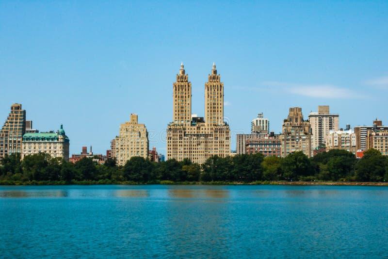 NEW YORK, EUA - 30 de agosto de 2018: New York City Vista de Manhattan de Central Park foto de stock royalty free