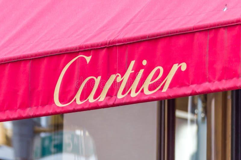 NEW YORK, EUA - 15 DE MAIO DE 2019: Ourivesaria de Cartier em New York City Societe Cartier projeta e vende a joia e foto de stock