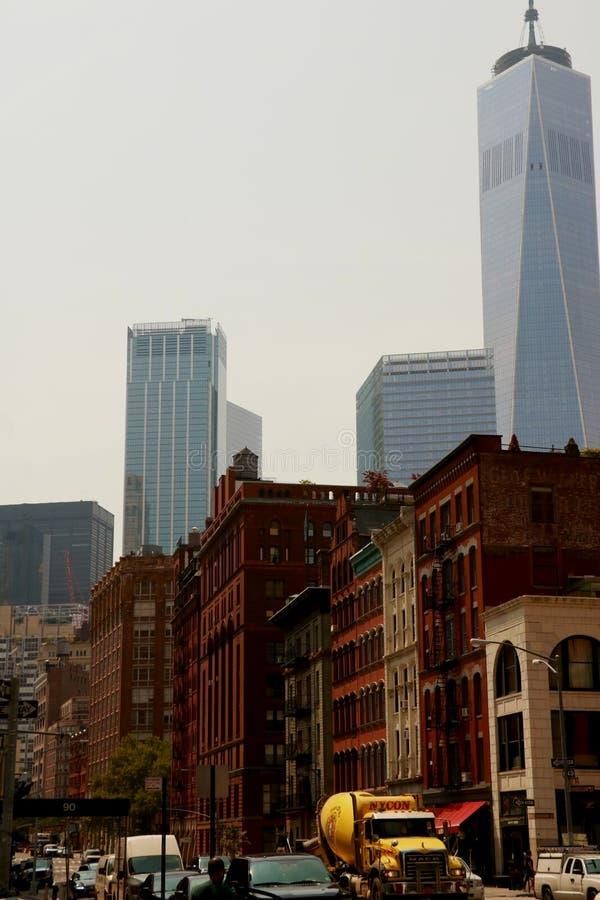 New York, EUA - 2 de setembro de 2018: as ruas de New York em um dia ensolarado fotografia de stock