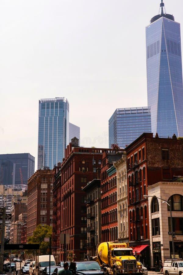 New York, EUA - 2 de setembro de 2018: ruas bonitas de New York imagens de stock