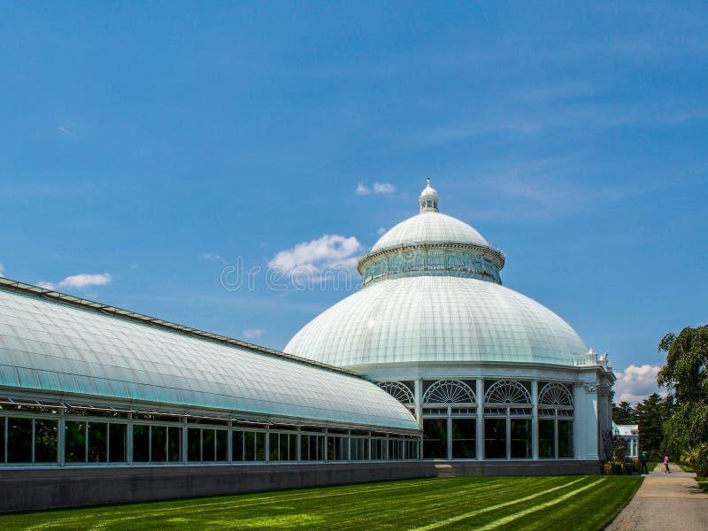 New York - Förenta staterna, Enid Haupt Conservatory i New York botaniska arbeta i trädgården New York City royaltyfri bild