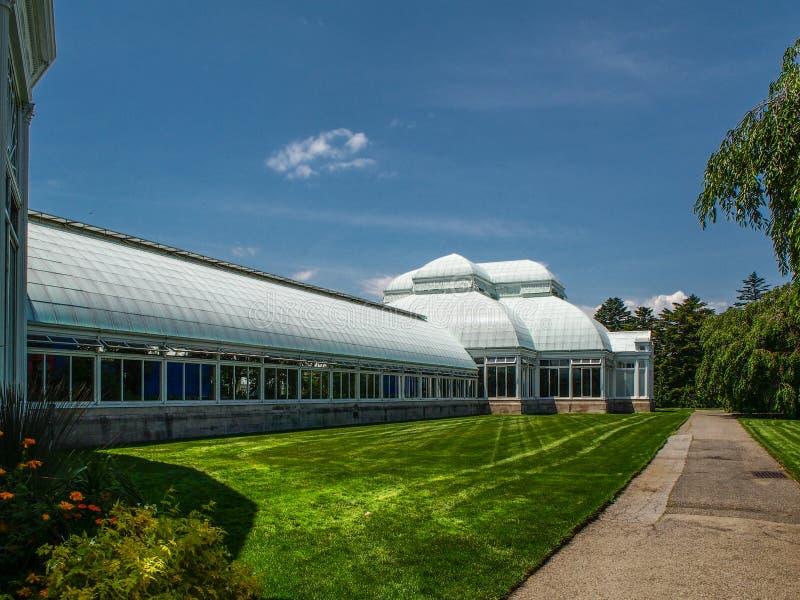 New York - Förenta staterna, Enid Haupt Conservatory i New York botaniska Gardenin New York City royaltyfri foto