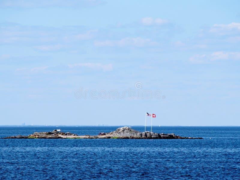 New York - Förenta staterna - tjalla ön är en privat ö i New York - Förenta staterna arkivbilder
