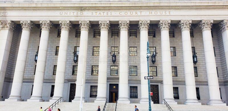 New York Förenta staternadomstolsbyggnad arkivfoton