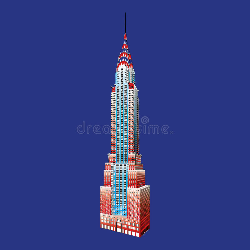 New York famous Empire State Building vector illustration