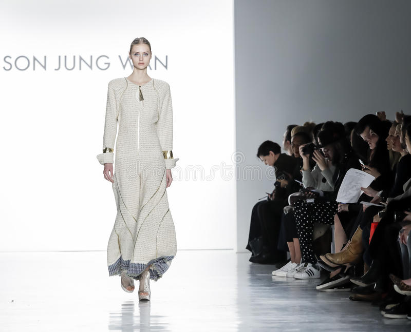 New York Fashion Week FW 2017 - Son Jung Wan Collection royalty free stock photography