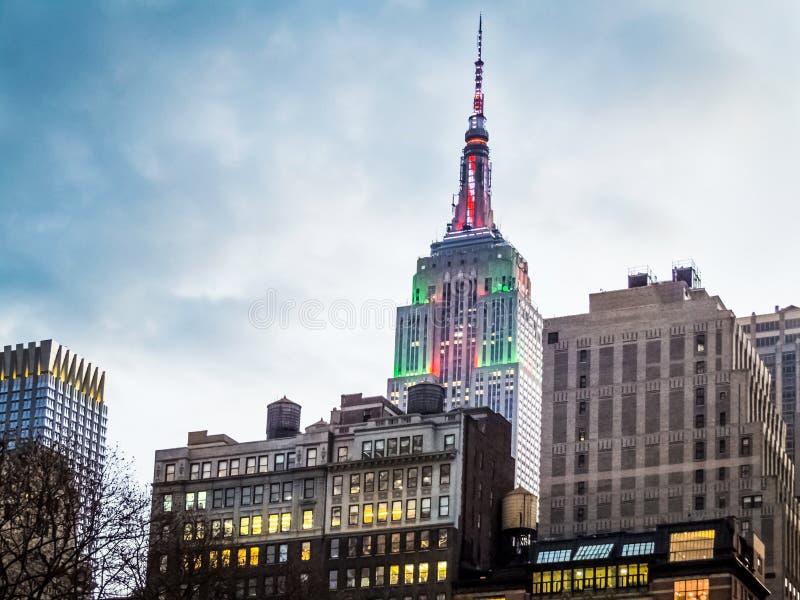 New York ferieljus arkivbild