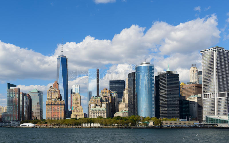 New York Financial District. View of New York City Financial District royalty free stock photos