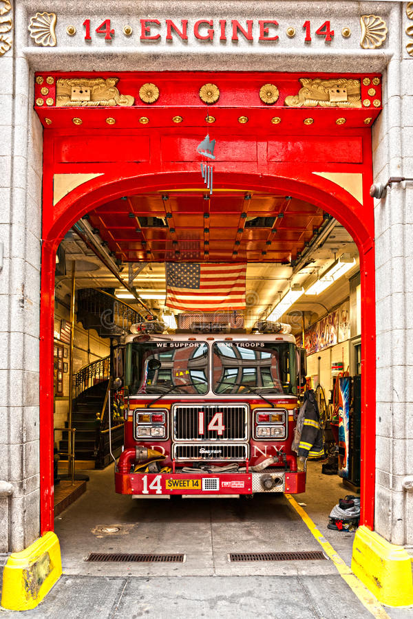Free New York Fire Department Engine 14. Stock Images - 27419604
