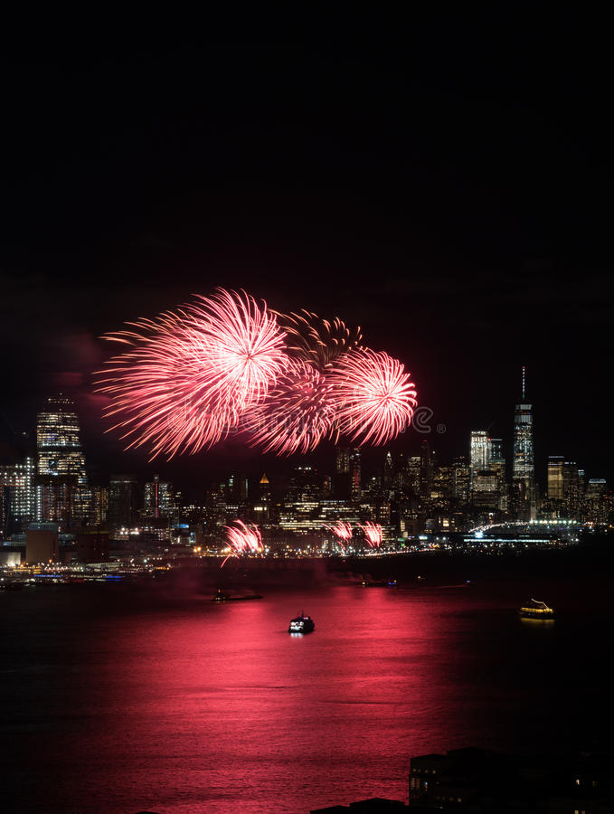 New York Fireworks royalty free stock image