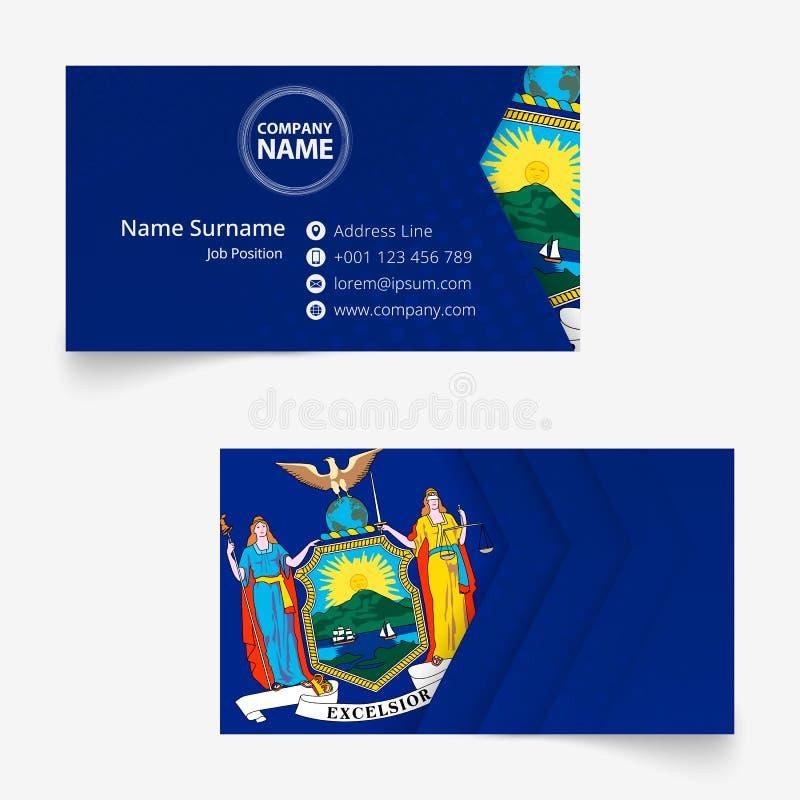 new york flag business card standard size 90x50 mm