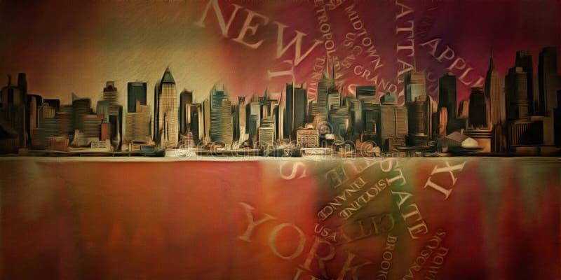 New York vektor illustrationer
