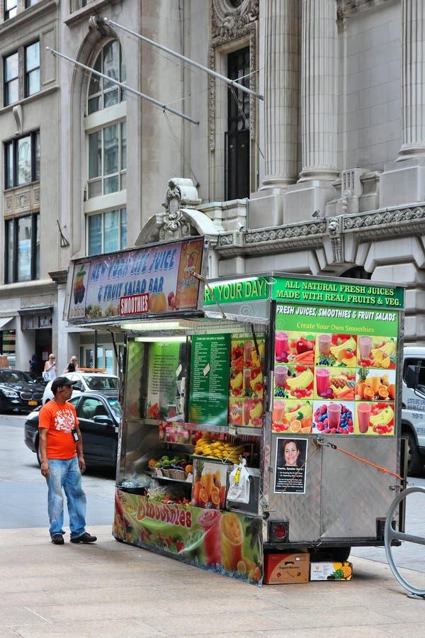 New York food truck royalty free stock photo