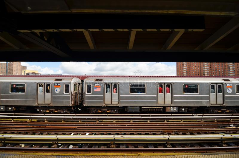 New York gångtunnelstation på den 125. gatan royaltyfri foto