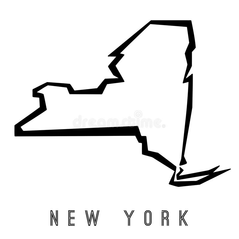 download new york geometric map stock vector illustration of logo 103141794