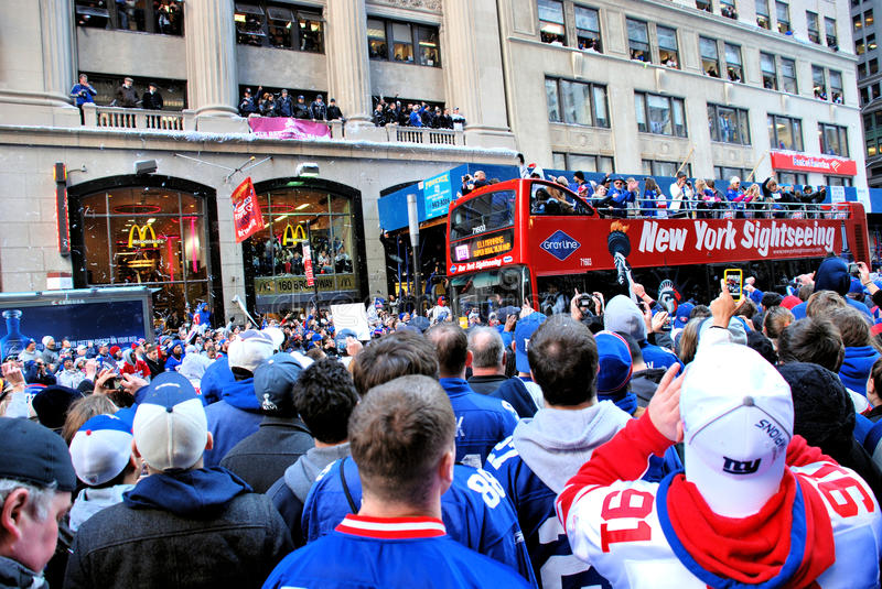 Download New York Giants Fan editorial photography. Image of downtown - 23613227