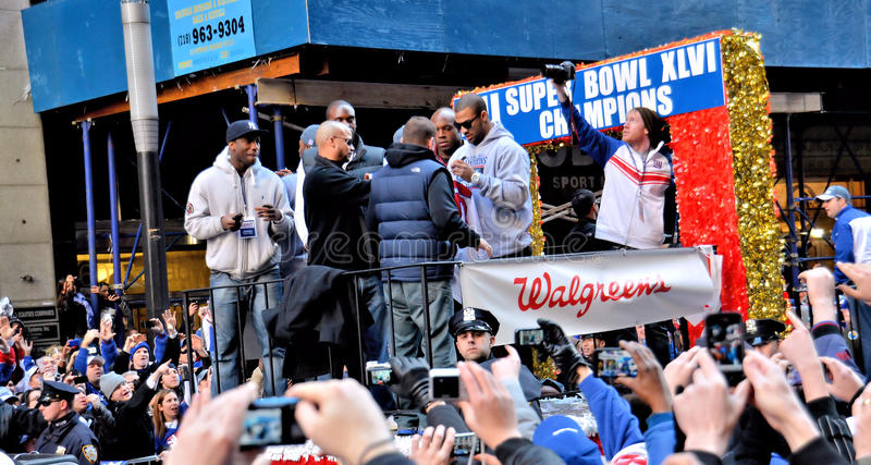 New York Giants Victory Parade royalty free stock photos