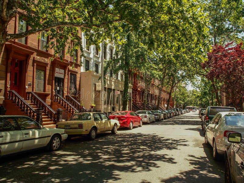 New York - gli Stati Uniti - via di Harlem a New York fotografia stock libera da diritti