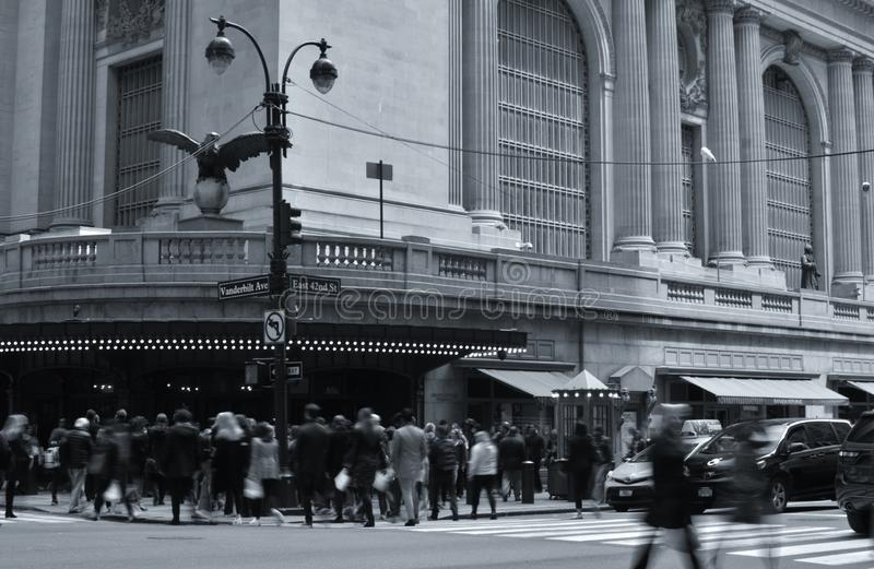 New York Grand Central Terminal Station 42nd Street Busy People Crowded City royalty free stock image