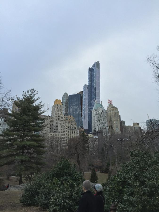 New York höga risers royaltyfri fotografi