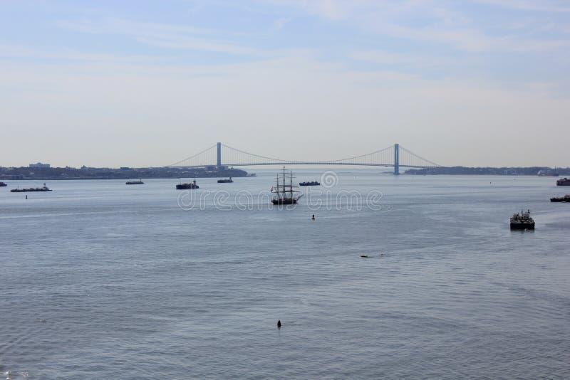 New York hamn, Förenta staterna arkivbild