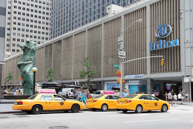 New York Hilton stockbilder