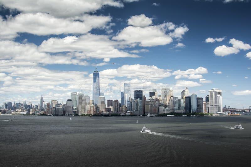 New York horisont 2014 arkivbilder