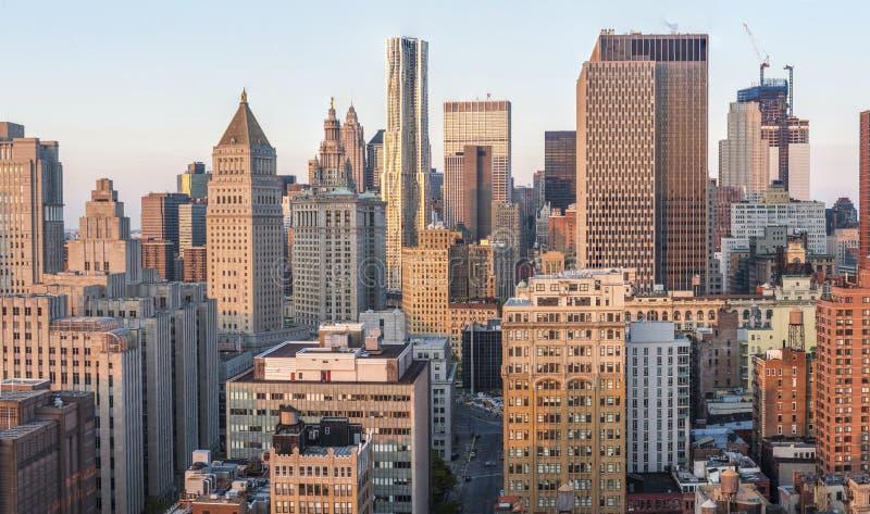 New York horisontfoto arkivbild