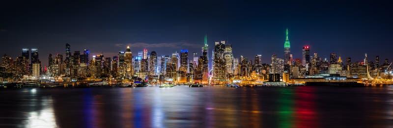 New York horisontpanorama royaltyfria bilder