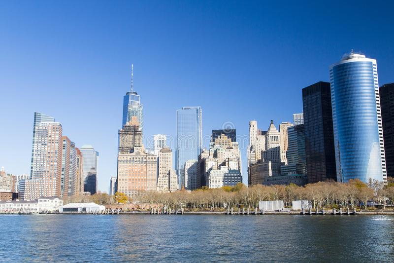 New York, horizon de Lower Manhattan photographie stock