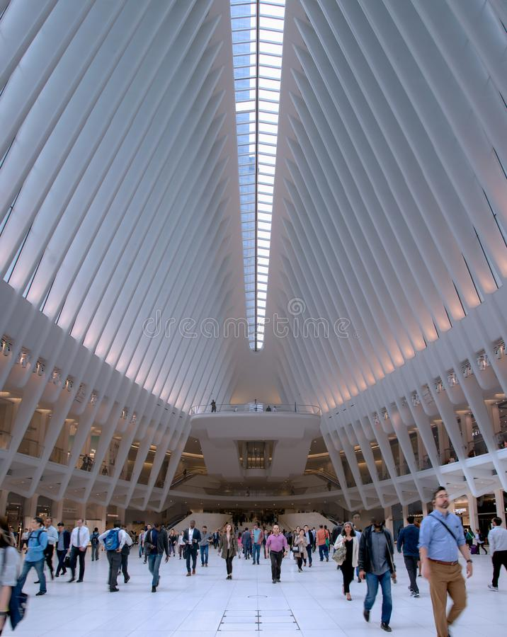 New York - hub del trasporto del World Trade Center fotografia stock