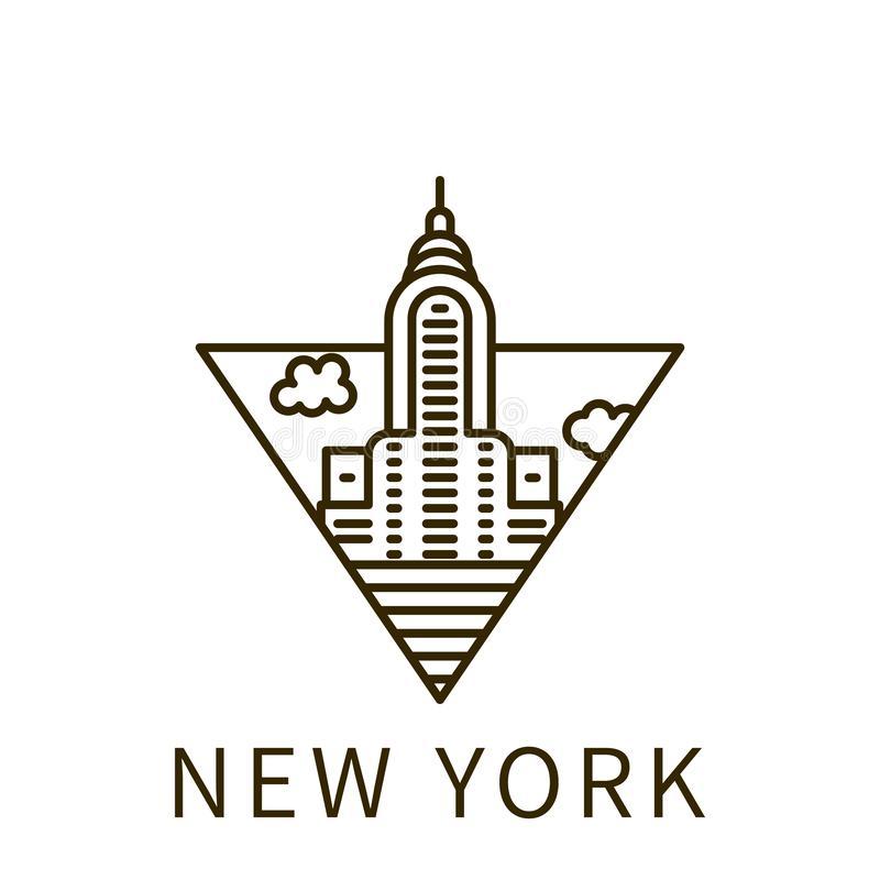 New York icon. Element of city in triangle icon. On white background royalty free illustration