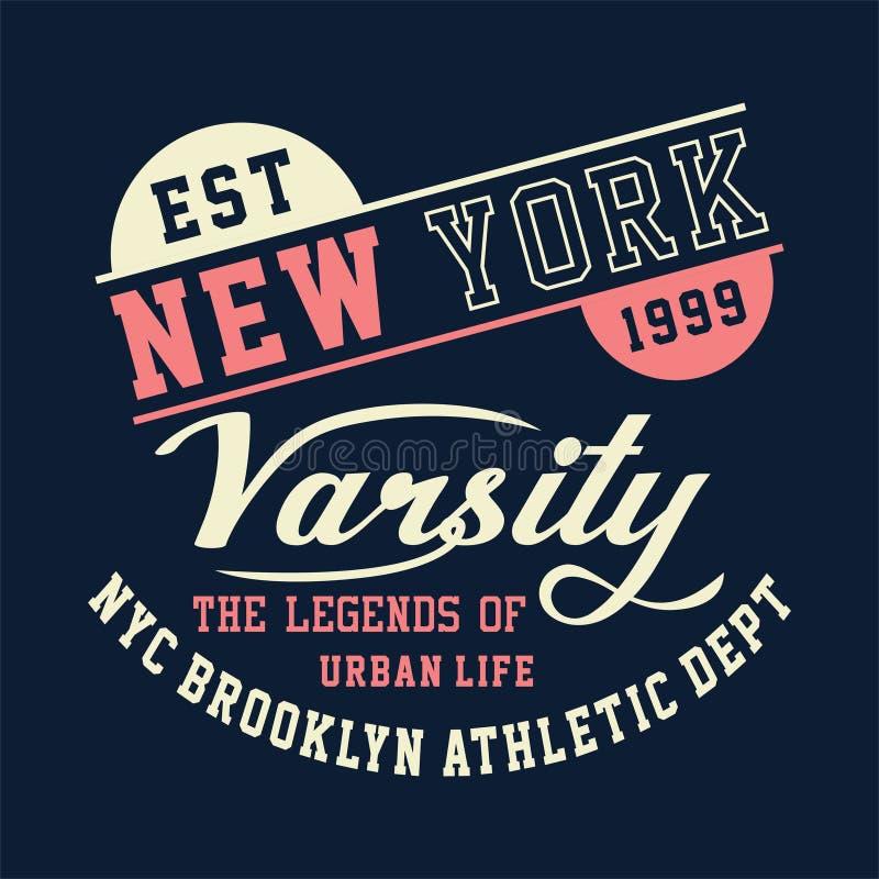 New York idrotts- universitets- brooklyn royaltyfri illustrationer