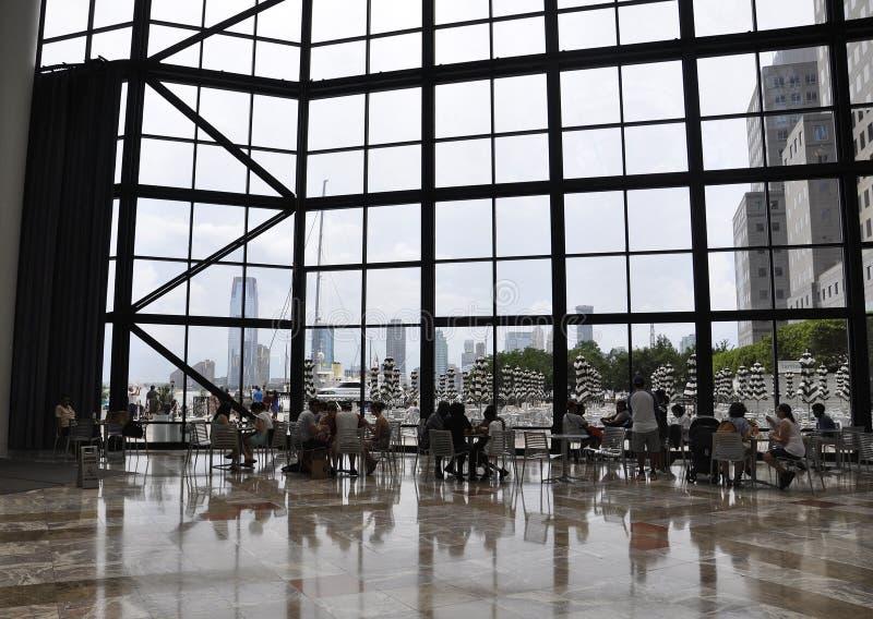 New York, il 2 luglio: Interno del posto di Brookfield in Manhattan da New York negli Stati Uniti fotografia stock libera da diritti