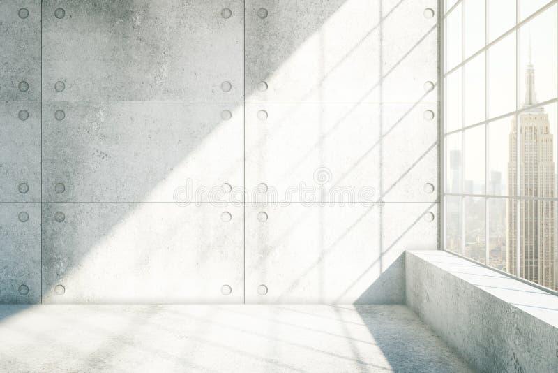 New York interior concreta ilustração stock