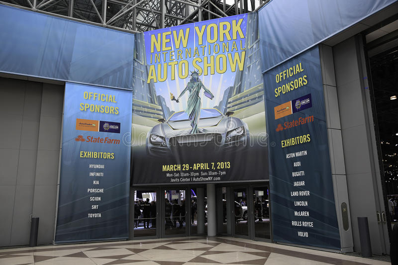 New York 2013 International Auto Show royalty free stock photography
