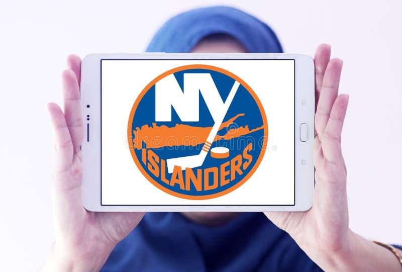 New York Islanders ice hockey team logo. Logo of New York Islanders ice hockey team on samsung tablet holded by arab muslim woman. The New York Islanders are a royalty free stock photography