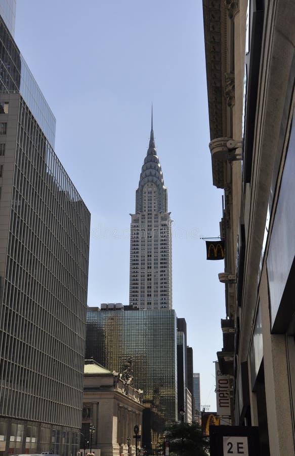 New York, 2 Juli: Cryslertoren in Uit het stadscentrum Manhattan van de Stad van New York in Verenigde Staten royalty-vrije stock afbeelding