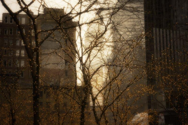 New York julpynt arkivbild