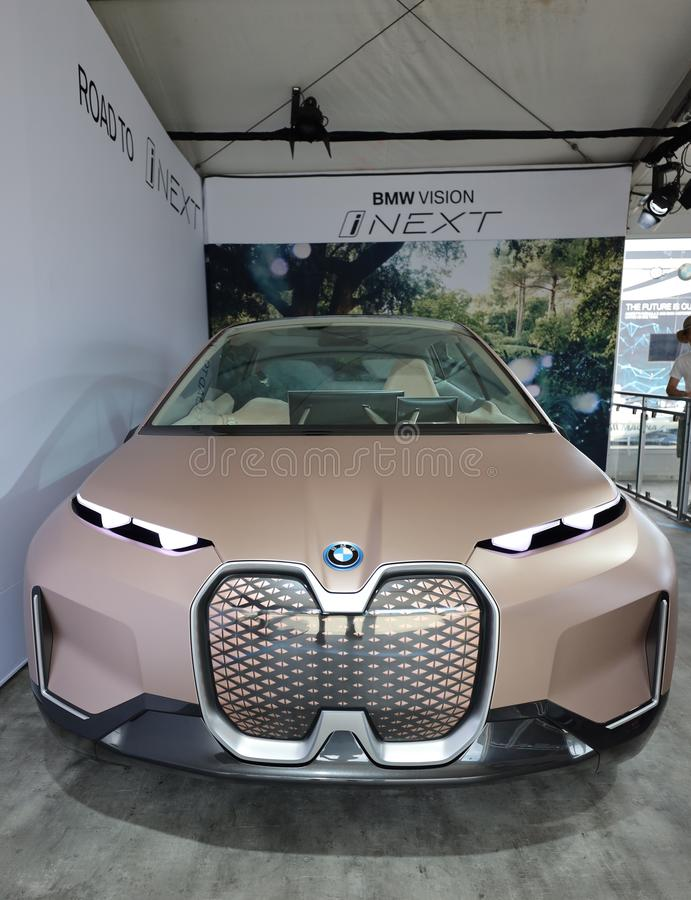 The BMW Vision INEXT Electric Crossover Car On Display ...