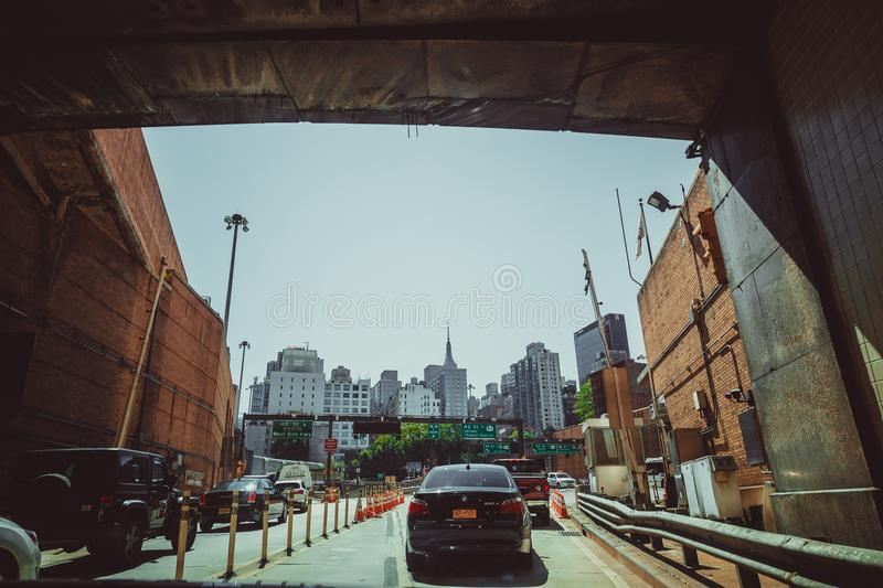 Lincoln tunnel traffic, New York city royalty free stock photos
