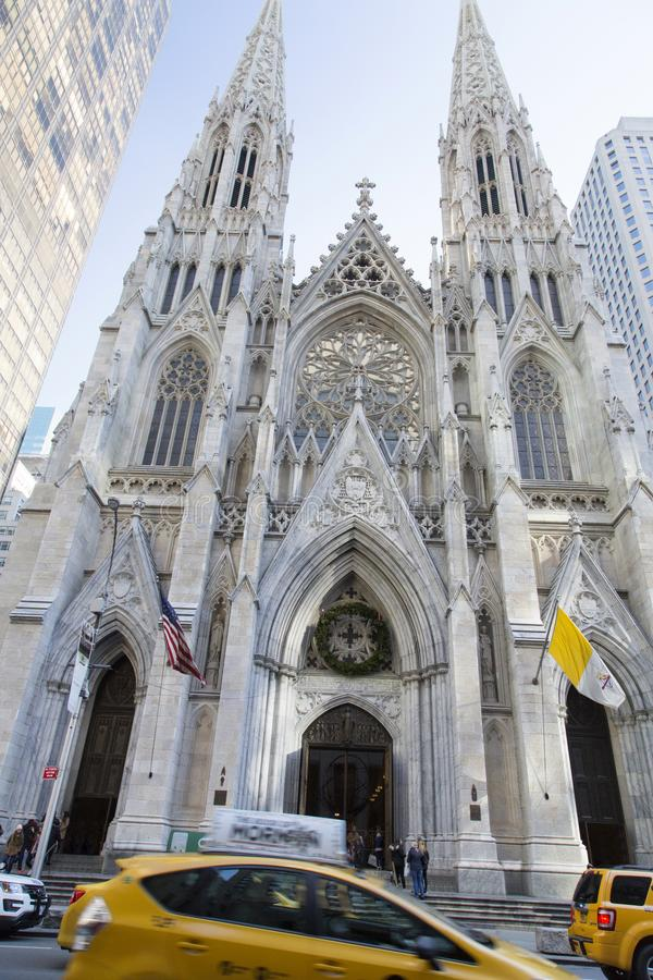 New York, Kathedrale von St Patrick stockfotos