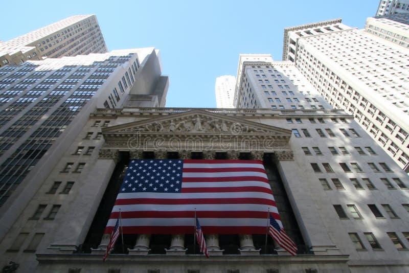 New York - l'échange courant de Wall Street images libres de droits