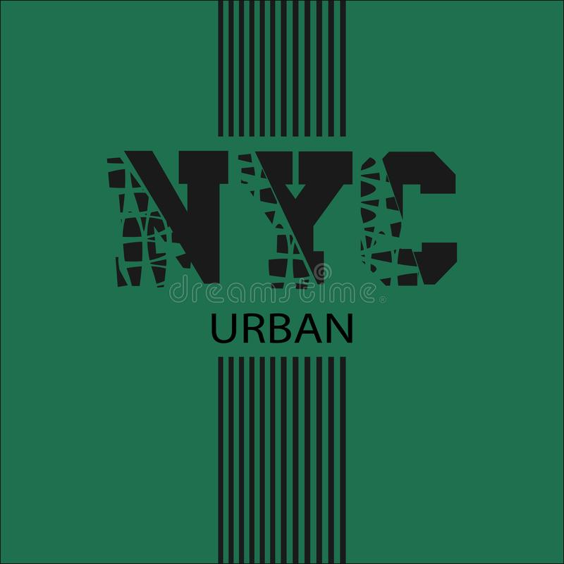 New York, l'inscription sur le T-shirt illustration de vecteur