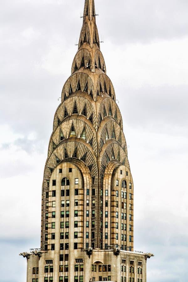 New York La construction de Chrysler images stock